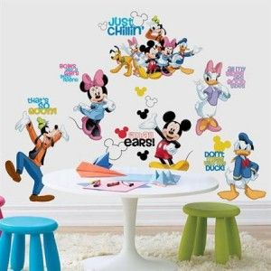 Disney MICKEY MOUSE GANG 30+ Wall Decals Goofy Minnie Pluto Room Decor