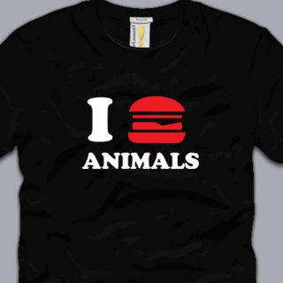 Eat Animals T Shirt Funny BBQ Meat Humor Hunting Fishing geeky nerdy