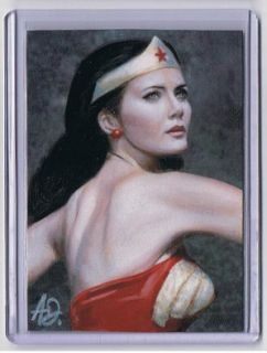 depicting acress LYNDA CARTER from the legendary WONDER WOMAN Series