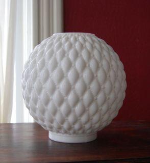 Antique GWTW Oil Kerosene Milk Glass Ball Shade