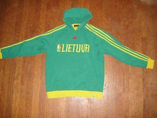 mens Adidas Lithuania Lietuva basketball skull shirt top olympics 2008