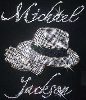 MJ Michael Jackson hat iron on a Kids Birthday DIY Party Fun Craft