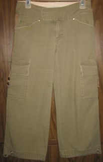 Womens The North Face Cargo Capri Cropped Pants A5 Series Size 2 Olive