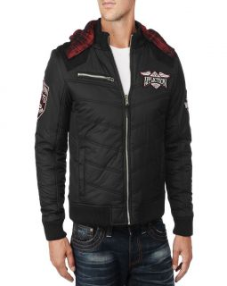 Affliction DOUBLE TURN Mens Bomber Jacket   10OW411   NEW