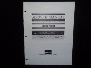 Sansui 2000A 2000 A Stereo Receiver Amp Original Service Manual