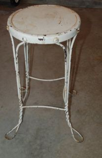 Antique Ice Cream Soda Fountain Stool Plant Stand Table