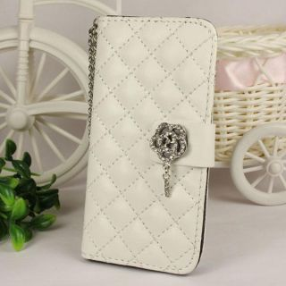 Crystal Diamond Leather Case Cover for Apple iPhone 5 5g 5th WH