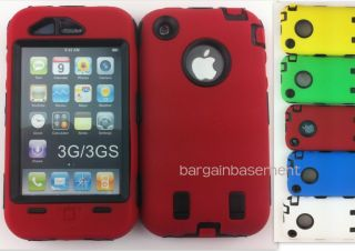 Heavy Duty Builders Workman Case Cover for Apple iPhone 3 3G 3GS Full