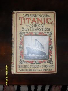 1912 MARSHALL TITANIC WHITE STAR LINE NAUTICAL MARITIME ANTIQUE BOOKS
