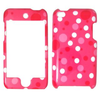 Apple iPod Touch 2 3 Pink White Polka Dots Case Cover SnapOn Faceplate