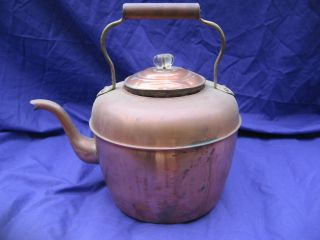 Antique Copper English Tea Kettle 1900s Estate Vintage