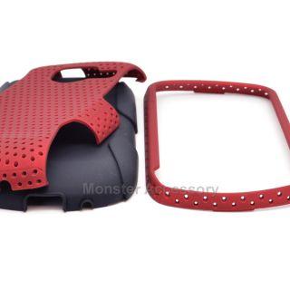 Red Apex Hybrid Hard Case Cover for Samsung Brightside U380 Phone