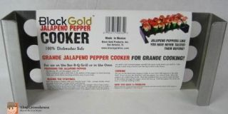Gold 21 Jalapeno Pepper Cooker Stainless Steel Appetizer Grilling Tool