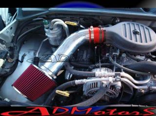 DAKOTA 3.2 3.2L 3.9 3.9L V6 COLD AIR INTAKE 97 98 99 01 02 03 RED