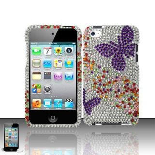 Apple iPod Touch 4G 4 4th Generation Hard Case Cover Purple Butterfly