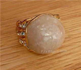 Disney Couture Little Mermaid Ariel Shell Ring Pearl Crystals Treasure