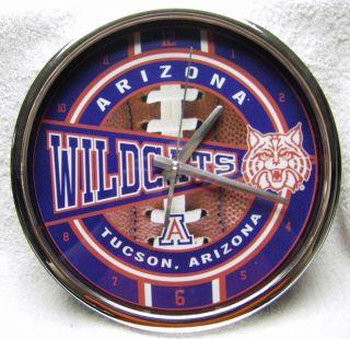 Arizona Wildcats NCAA 12 Chrome Metal Shiny Round Wall Table Shelf