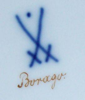 Antique Extremely RARE Meissen Flower Vase Signed Borago x Swords Dot