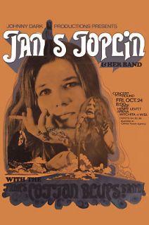 blues janis joplin james cotton at witchita poster 1969 time