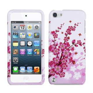 Apple iPod Touch 5th Generation Hard Case Snap on White Cover Pink