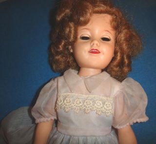 Pretty 1950s 60s Ideal Shirley Temple Doll St 17 1 Original Dress