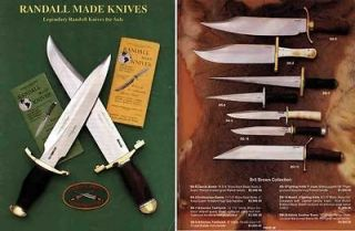 randall made knives c1985 sales catalog time left $ 19