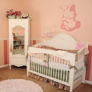 Vinyl Stickers Pink Bunny Baby Nursery Room Art Decor Decals