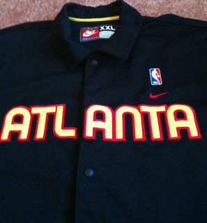 Retro Atlanta Hawks Nike Black Warmup Shooting Jacket Men Size XXL NBA