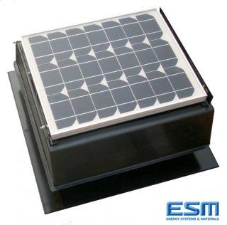 Solar Powered Attic Fan 27 WATT PV 1600CFM Venting Ability Model 27S