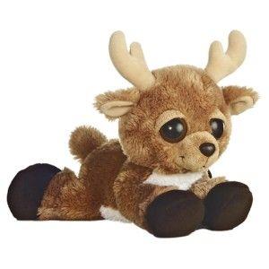 Aurora Plush Reindeer Christmas Holiday Dreamy Eyes Stuffed Animal Toy