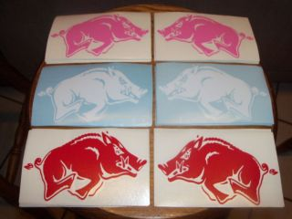 Arkansas Razorbacks HOGS Vinyl Decal Car Truck Sticker COLOR CHOICE