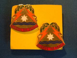 US Army 53rd Signal Bde Di Unit Insignia Crest Pin Set