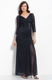 new adrianna papell beaded mesh gown size 16 ink