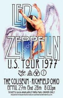 led zeppelin 1977 cleveland concert poster  9