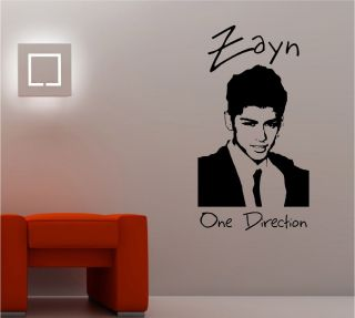 Zayn Malik One Direction Wall Art Sticker Vinyl Lounge Music Bedroom