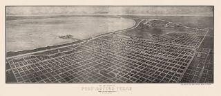 Panoramic Map Port Arthur Texas 1912 Jefferson County