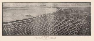 Panoramic Map Port Arthur Texas 1912 Jefferson County