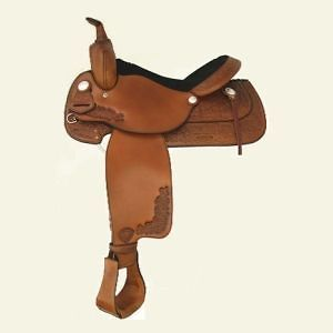 Tex Tan Albany Western Pleasure Trail Saddle   Pecan Brown   15