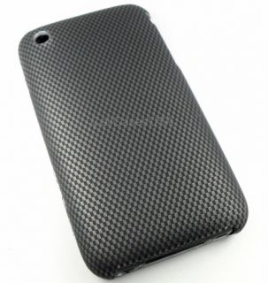 For Apple iPhone 3G 3GS Carbon Fiber Look Hard Skin Cover Case Phone