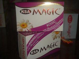 New KSA Magic Kojic Acid 3in1 Whitening Herbal Soap Placenta