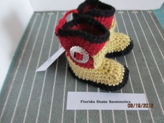 Florida State Seminole Garnet and Gold Baby Girl or Boy Cowboy Boots