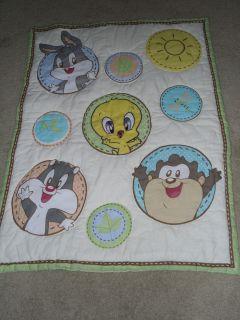 Looney Tunes Baby Blanket Quilt Nursery Bedding Warm Cozy Unisex Great