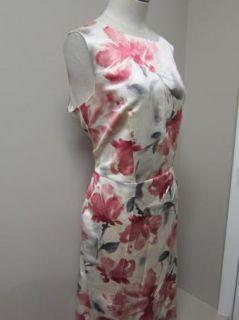 Jones New York Collection Boat Neck Sleeveless Dress Cameo Multi 14 $
