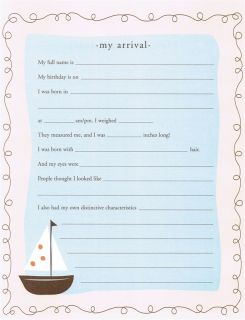 Pepperpot Olivers Nursery Baby Record Book