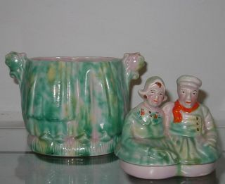 Antique Arthur Wood Staffordshire Pottery Tobacco Jar