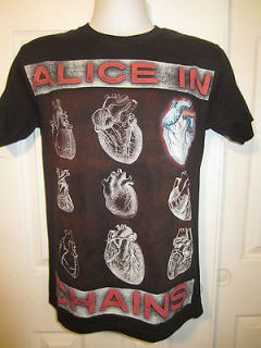 Hot Topic Alice In Chains HEARTS T SHIRT Size Small NWOT