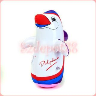Toy Inflatable Dolphin Swimming Pool Party Favor BOP BAG FUN PUNCH BAG