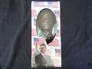 PRESIDENT BARACK OBAMA BOBBLEHEAD NEW UNOPENED ROUND 2 NEW IN BOX 4
