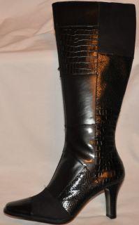 Karen Scott Ashlee Multi Patterned Black Knee High Boot