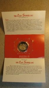 1997 $5 Marshall Islands Last Supper Commemorative Coin